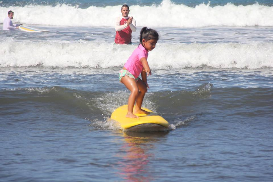 Surfing at Manuel Antonio