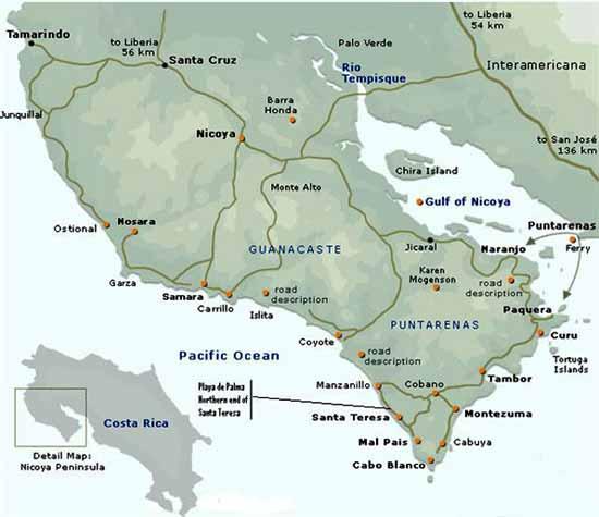 mapa nicoya
